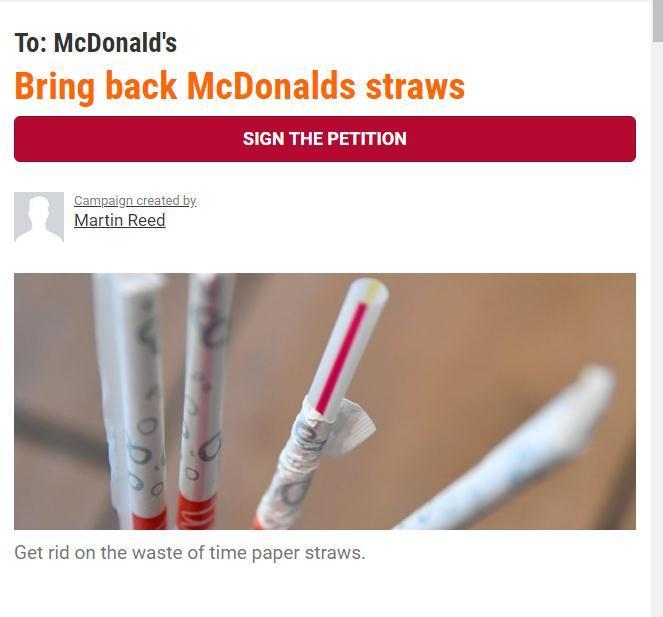 麦当劳尴尬:为保护环境改用的吸管不可回收|麦当劳