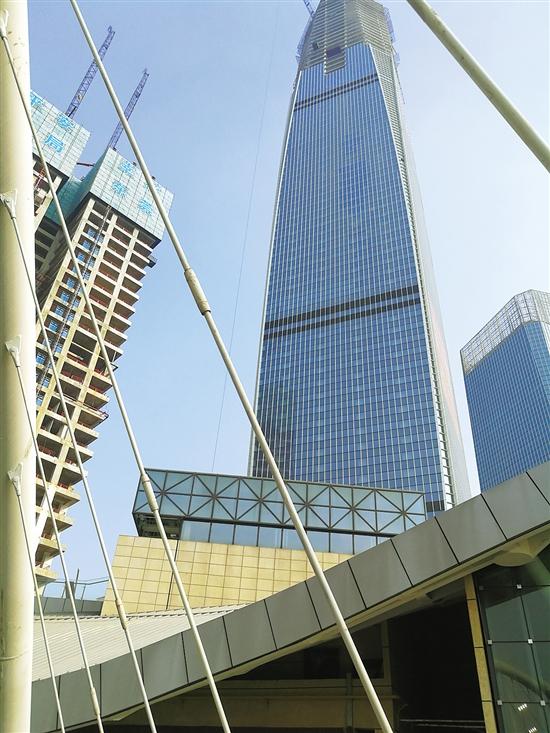 建设中的东莞国贸中心项目