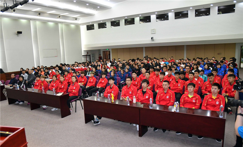 在京国家队运动员集体观看体育励志电影