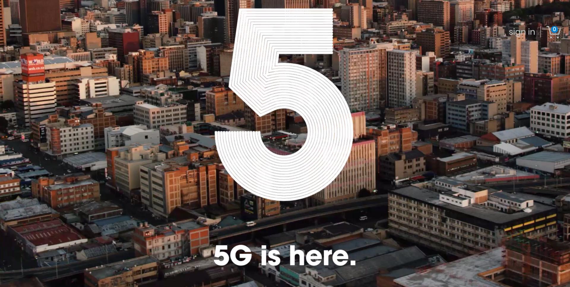 南非移动数据网络运营商 rain 在南非推出商用 5G 网络