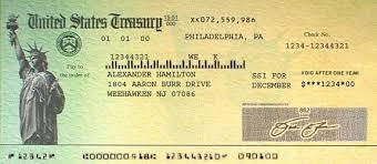 美国财政部的刺激支票样板 图自:美国财政服务局
