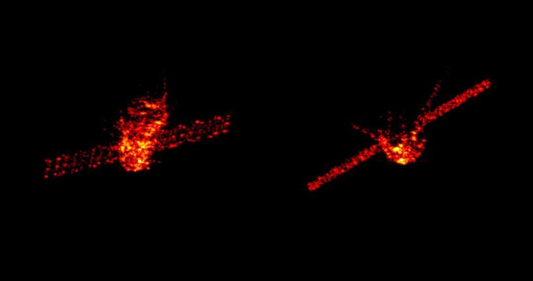 """▲2018年3月27日""""天宫""""一号目标飞行器的雷达图像。 图片来源:Fraunhofer FHR"""