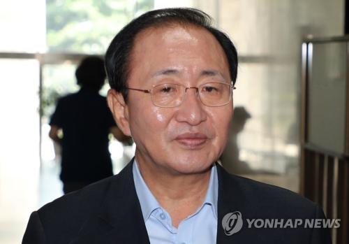 資料圖片:韓國在野黨正義黨黨鞭魯會燦。(圖片來源:韓聯社)
