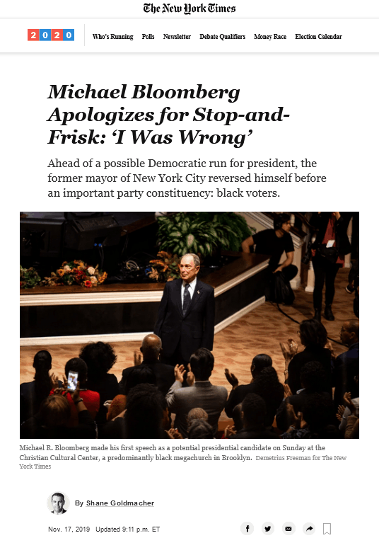 《纽约时报》 报道截图
