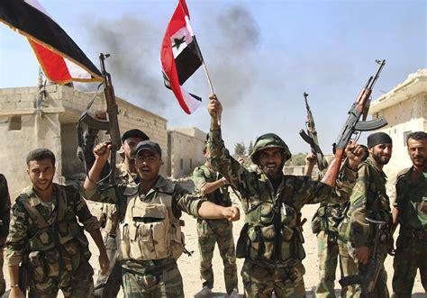 材料图片:叙政府军庆祝成功。(图片来源于网络)