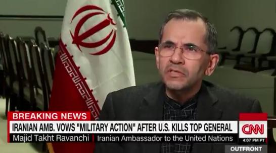 伊朗驻联合国大使马吉德•塔赫特-拉万希接受CNN采访