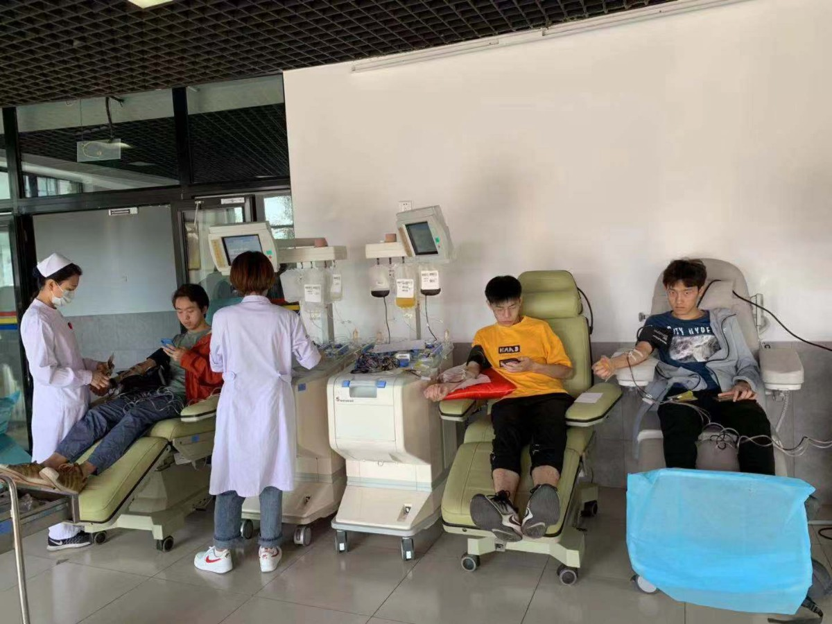 """清华设国庆献血专场,""""95后""""女研究生第32次献血"""