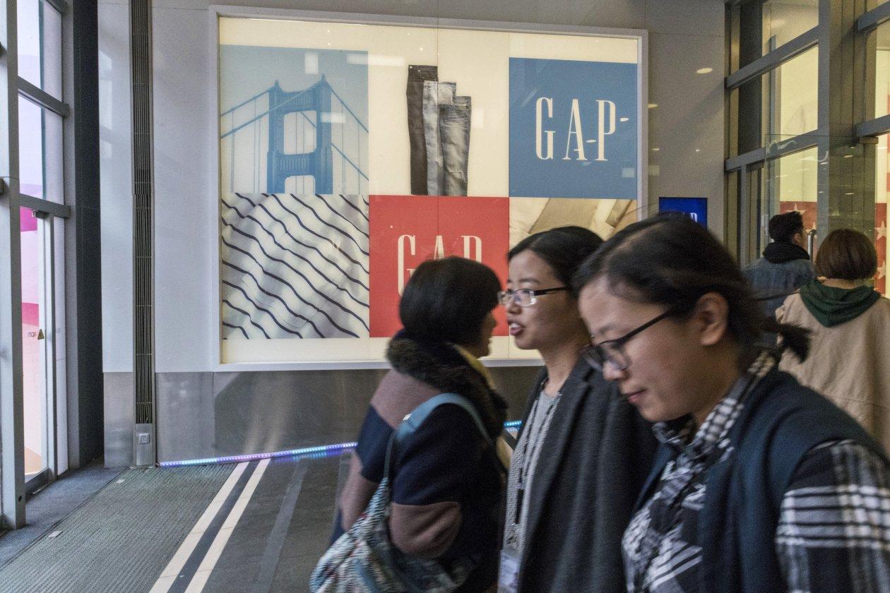 北京王府井的Gap门店 图源:华尔街日报 下同