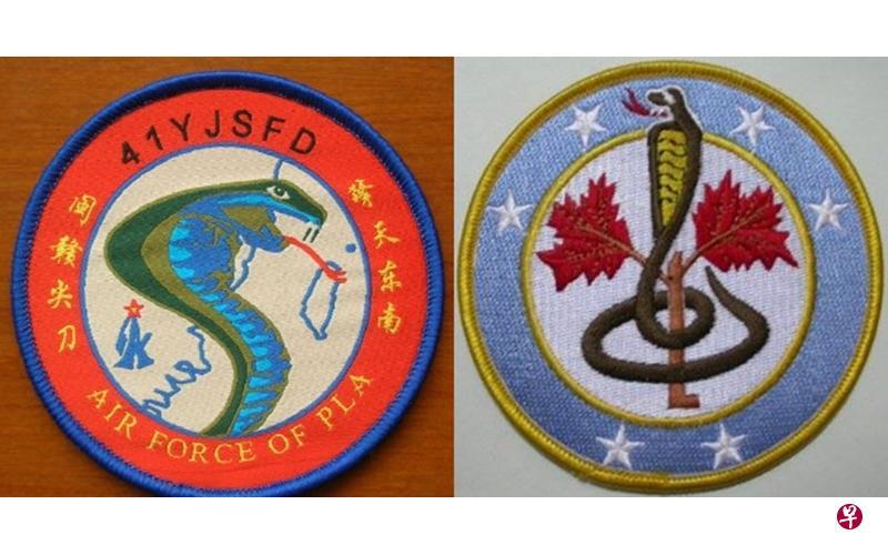 我军驻福建部队臂章现眼镜蛇图案 蛇信直压台北