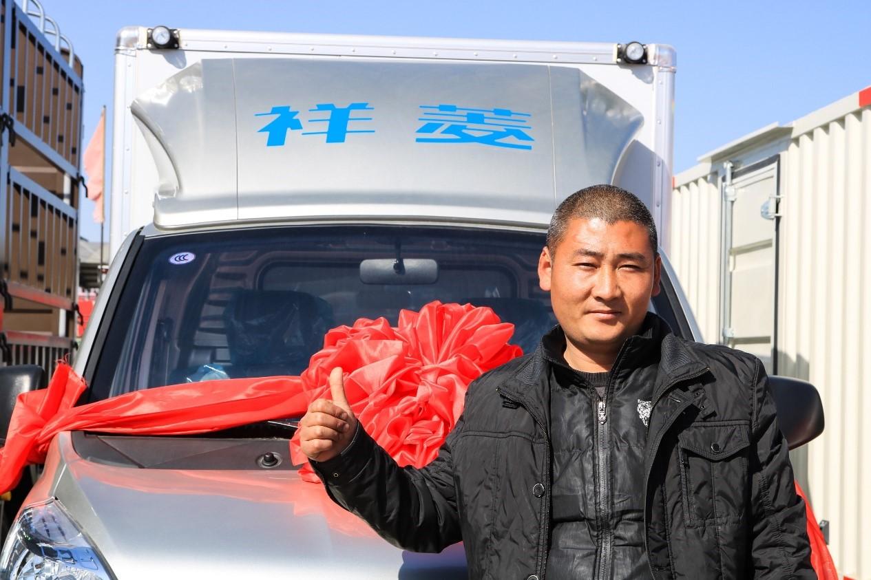 郝云天:福田祥菱V1是果蔬运输的好帮手