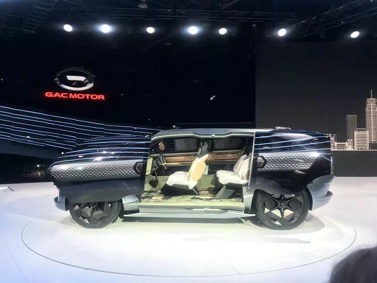 """前排能坐仨人!广汽传祺发布""""崭新物种""""概念车:对开侧滑门相当科幻"""