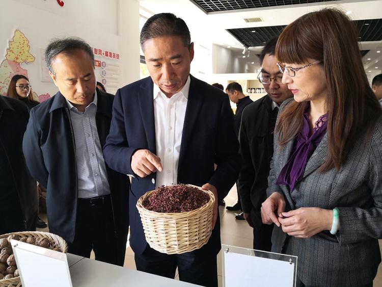 辛国斌赴涞水县开展扶贫和农村网