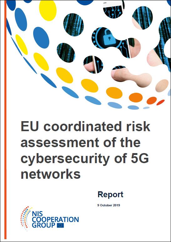 """报告封面""""欧盟对5G网络安全的协调风险评估"""""""