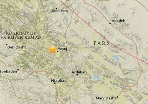 伊朗西南部发生5.3级地震 尚无伤亡及损失报告