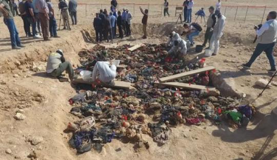 """创业商机联盟_伊拉克沙漠发现乱葬坑 疑当年萨达姆""""作恶铁证"""""""