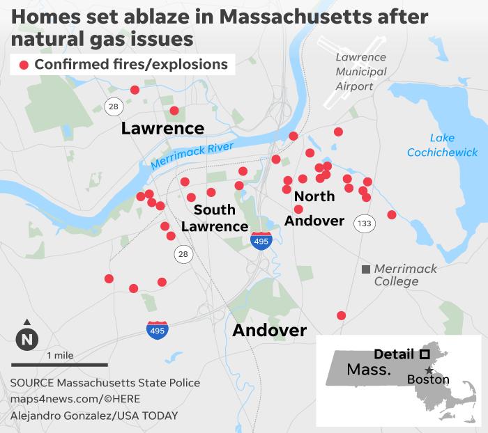 美波士顿数十座房屋连环爆炸 消防员:像世界末日
