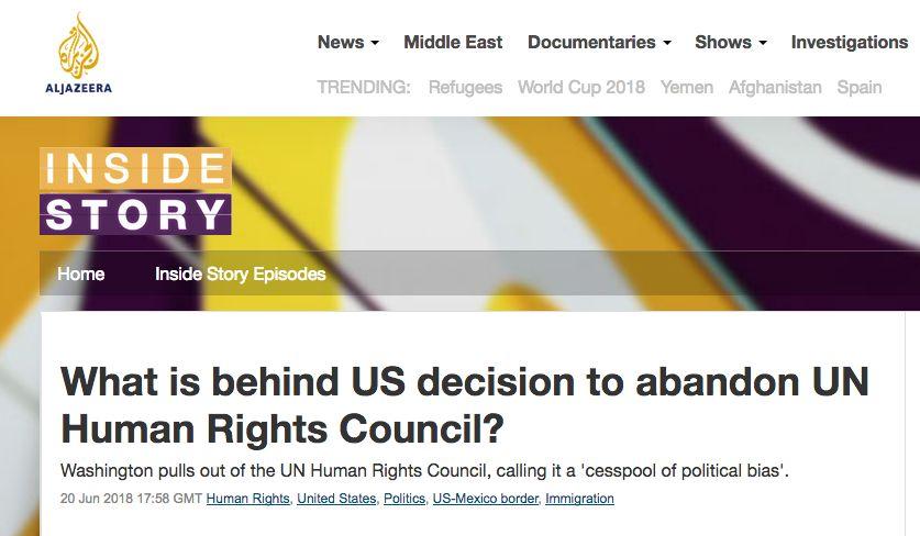 ▲卡塔尔半岛电视台网站报道截图
