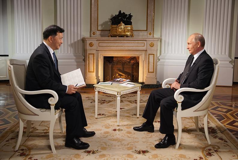 中央广播电视总台独家专访普京 访谈内容亮点多多