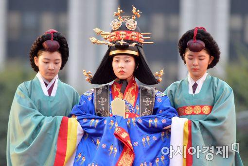 韩国再现大韩帝国皇帝皇后的嘉礼(婚礼)