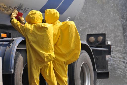 北碚交巡警支队组织开展危化品道路运输及校车重特大道路交通事故应急处置演练