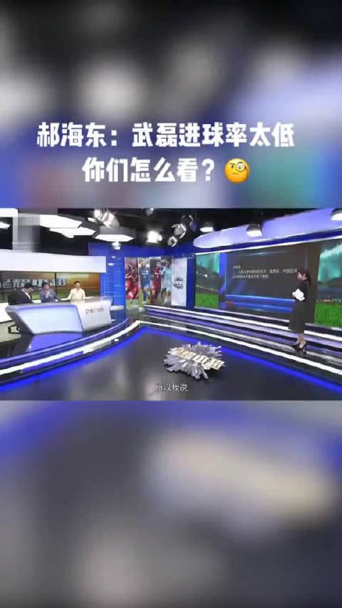 武磊比赛中尽力未出彩,郝海东曾说武磊进球率太低