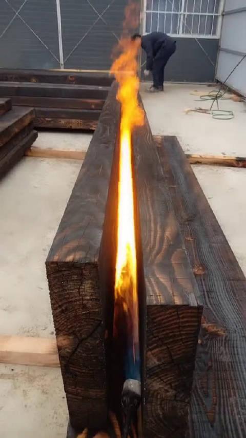 所谓的船木大板就这样烧出来的