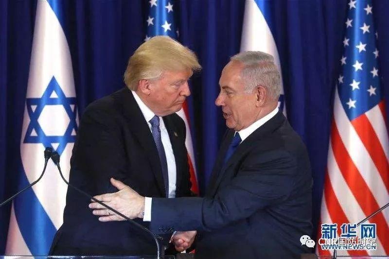 美国总统特朗普与以色列总理内塔尼亚胡