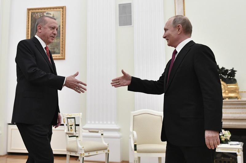 土耳其總統埃爾多安(左)、俄羅斯總統普京(右)。