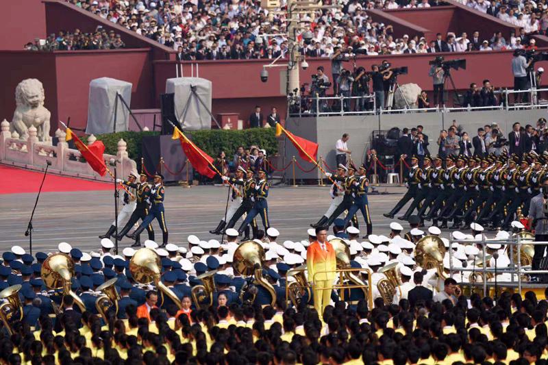 国庆大典|阅兵式隆重举行 徒步方队接受检阅