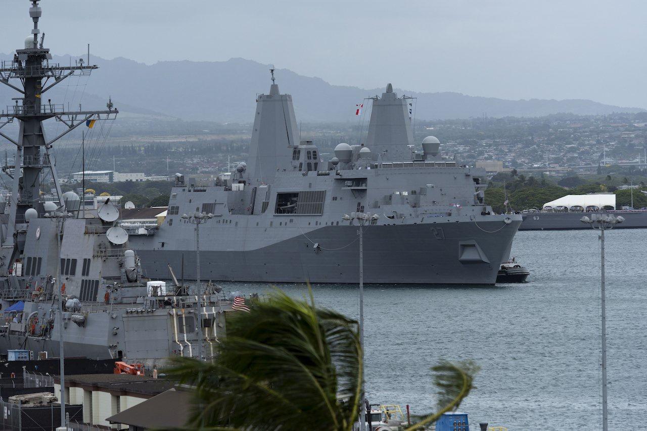 美国海军LPD-27两栖登陆舰(资料图)