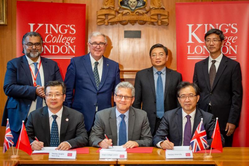 校领导访问伦敦国王学院 签署两校联合医学研究院建设框架协议