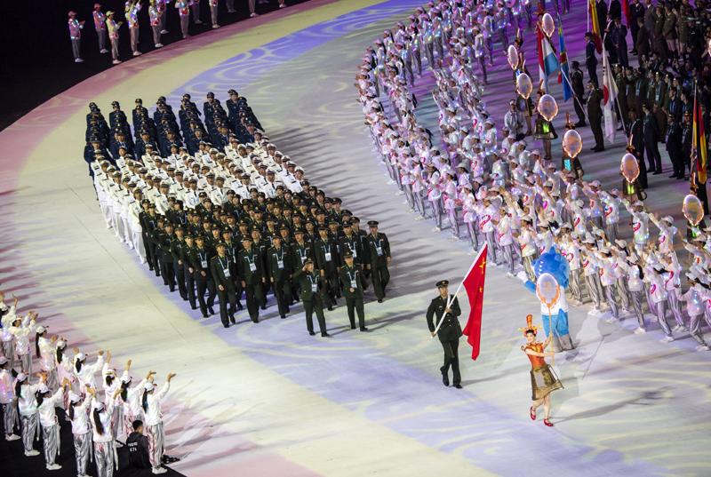 """军运会中国代表团不乏""""大牌"""","""