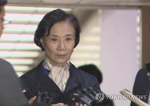 资料图:大韩航空会长夫人李明姬。图片来源:韩联社。