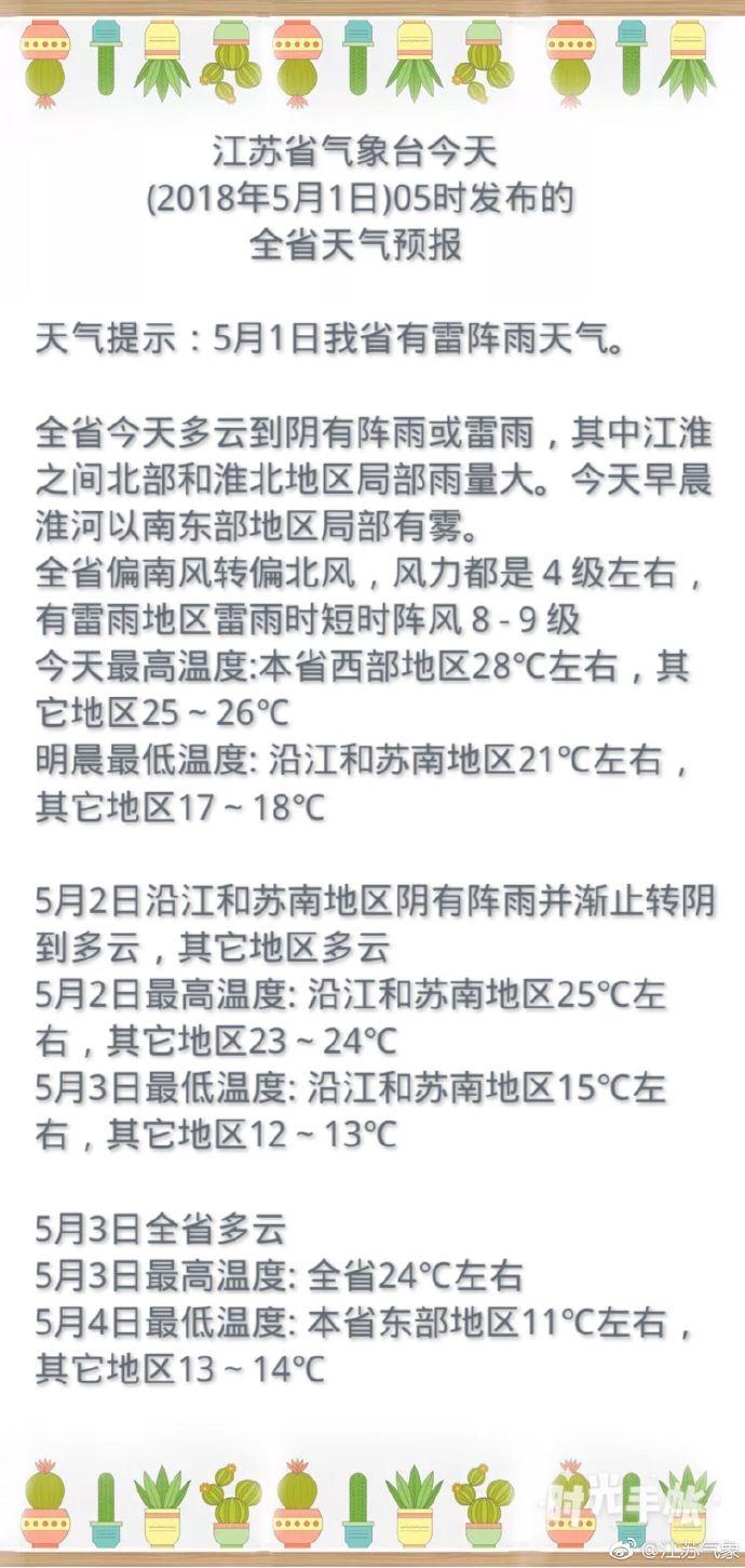 江苏中北部出现局地雷暴天气 南京还要忍受一个桑拿天