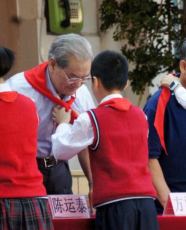 以院士精神为榜样  文安小学师生迎接中科院院士陈运泰回母校