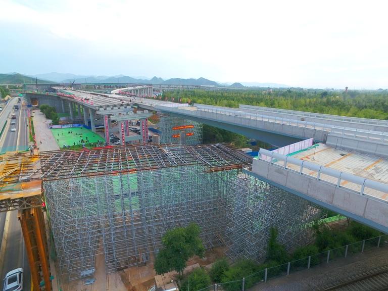 2022冬奥工程兴延高速公路跨京包铁路立交桥高效环保转体