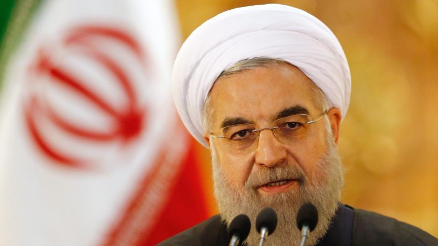 (伊朗总统鲁哈尼 图片来源:《明镜》周刊)