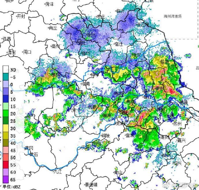 临近下班,暴雨来了!江苏省气象台发布暴雨黄色预警
