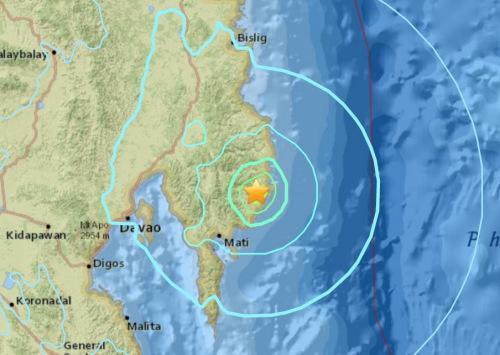 菲律宾棉兰老岛东部6.1级地震 震源深度10公里