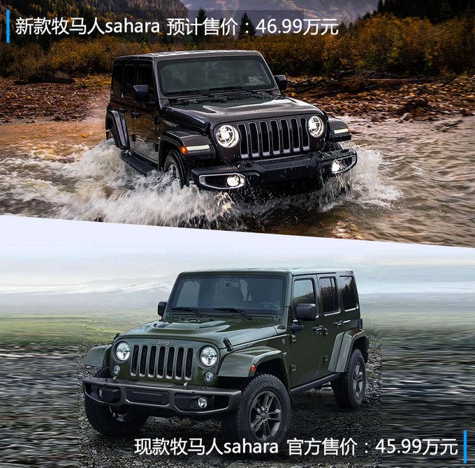 Jeep新牧马人搭2.0T+8AT 动力/售价提升7月上市