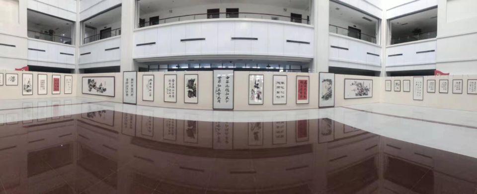 庆祝新中国成立70周年,省委党校(山东行政学院)举办中华传统美德书画精品特展