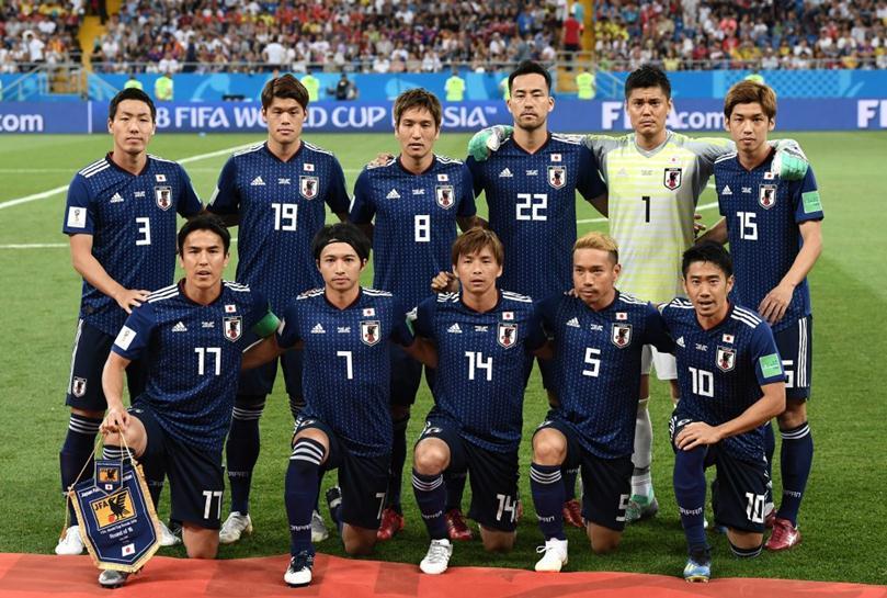 (图为征战2018俄罗斯世界杯的日本队)