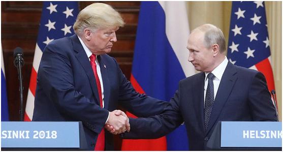 特朗普(左)与普京 图自 《消息报》