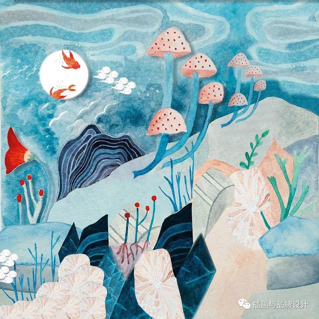 手绘丨用水彩画出最具幻想的童趣插画,每张好像都在诉说一个小故事