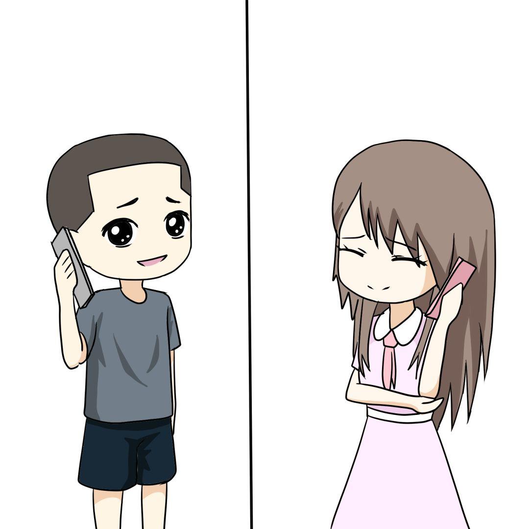 军恋婚礼卡通情侣头像