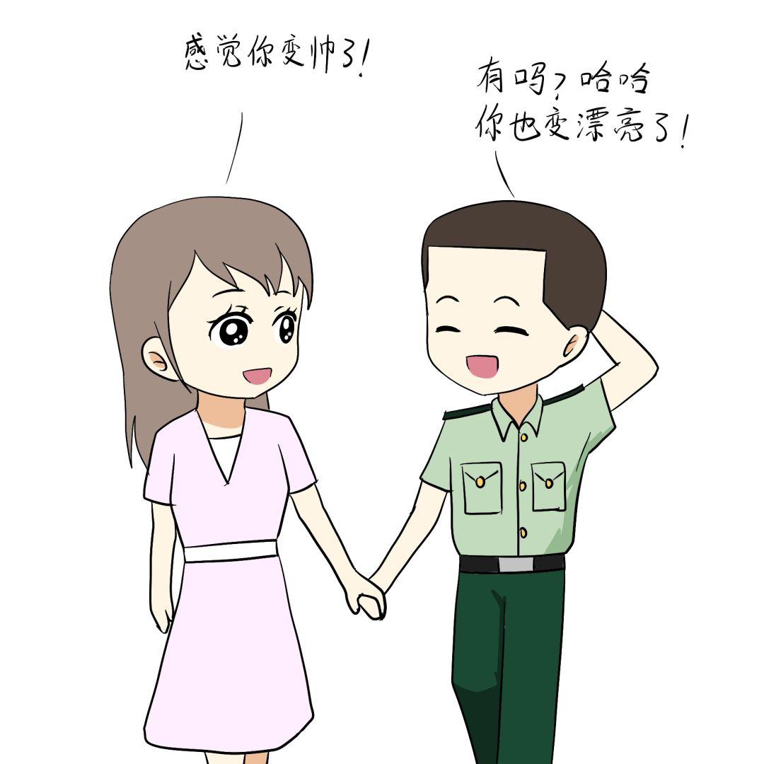 最美军恋简笔画图片