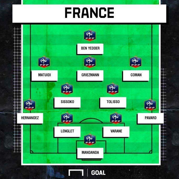 法国vs土耳其首发:格里兹曼领衔