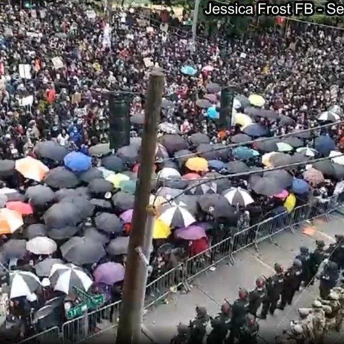 香港建制派支持美国民众示威,却遭反对派攻击