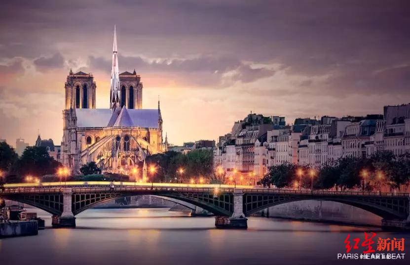 巴黎圣母院重建方案获奖建筑师:参赛只为致敬|马克龙