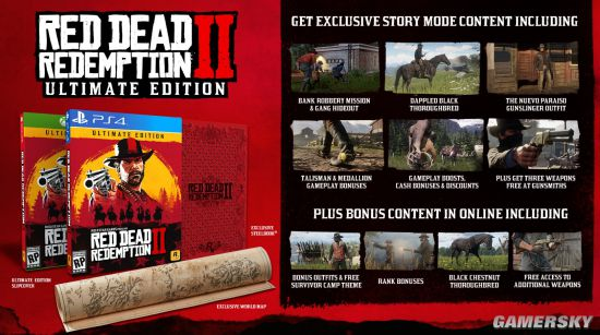 Rockstar确认《荒野大镖客:救赎2》将有简体中文版 公布特别、终极版